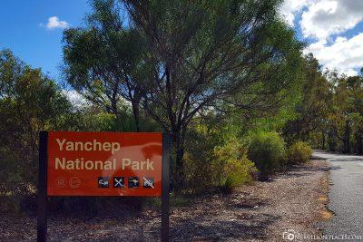 Der Eingang zum Yanchep Nationalpark
