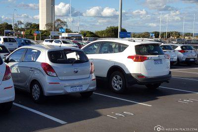 Rückgabe unseres Autos bei Europcar