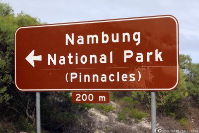 Signpost to Nambung National Park