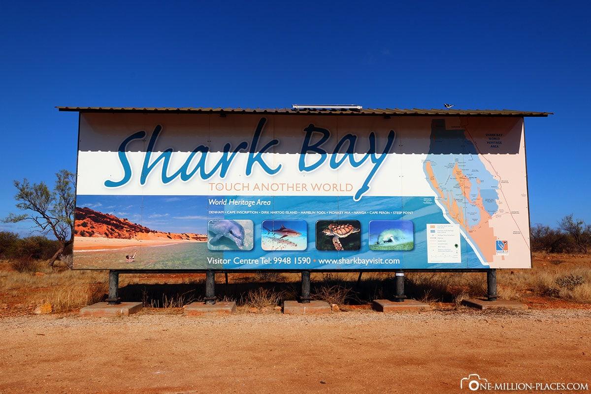 Shark Bay, Australien, Bundesstaat Western Australia, Auf eigene Faust, Reisebericht