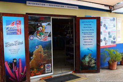 Der Check-In von Ocean Encounters
