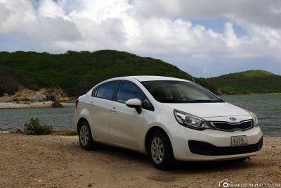 Unser Mietauto für Curacao