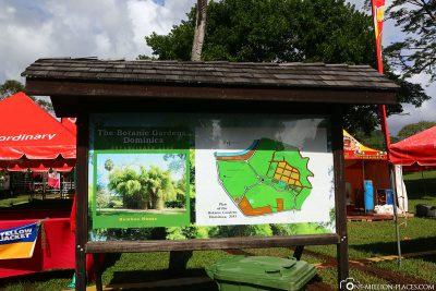 Der Botanische Garten in Roseau