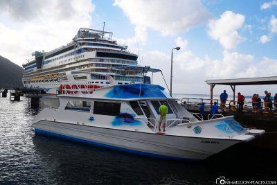 Das Ausflugsschiff