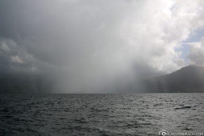 Die heutigen kurzen Regenschauer