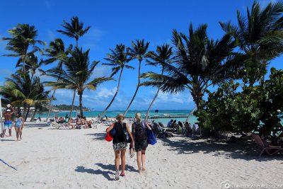 Der Strand der Playa Blanca