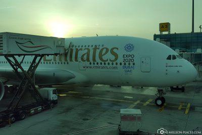 Unser Flug nach Dubai mit dem A380 von Emirates