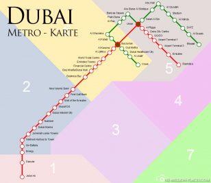 Die Metrolinien in Dubai