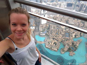 Die Aussichtsplattform im Burj Khalifa