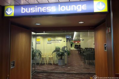 The entrance to the Business Lounge