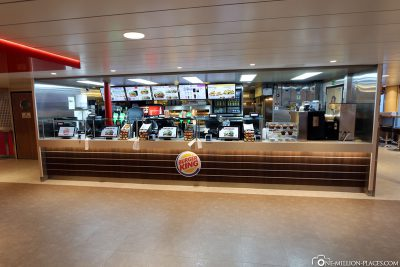 The Burger King on the MS Star