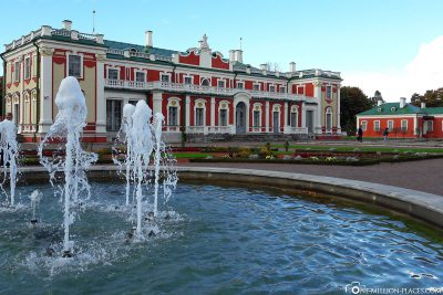 The Katharinental Castle with fountain