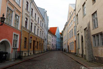 The colourful streets of Tallinn