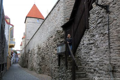 The city wall around the old town