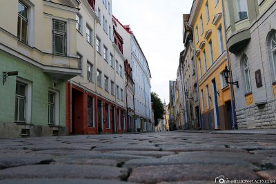 The cobbled streets in the old town