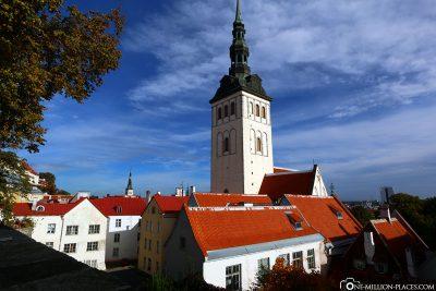 View from the Domberg to the Nikolaikirche