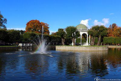 Swan Pond of the Park of Kadriorg
