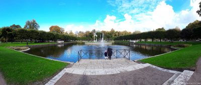 Panoramic view of the Swan Pond