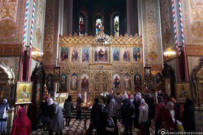 Der Innenraum der Alexander Newski Kathedrale