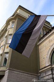 The flag of Estonia