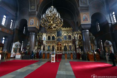 The interior of Uspensky Cathedral