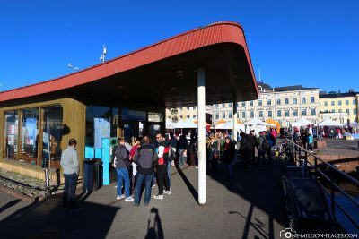 The ticket office for the ferry in Helsinki