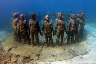 Diving at the Underwater Sculpture Park