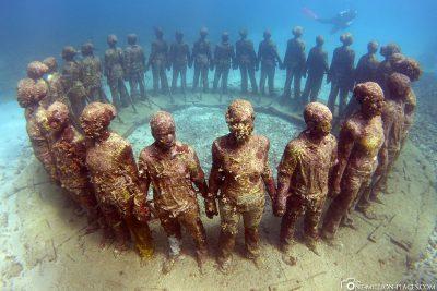 The Underwater Sculpture Park in Grenada