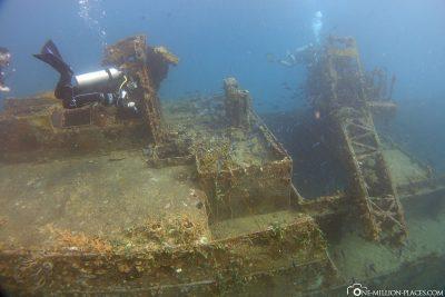 Wracktauchen am Frachtschiff Veronica L