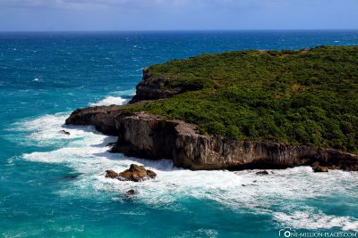 Die Atlantikküste von Guadeloupe