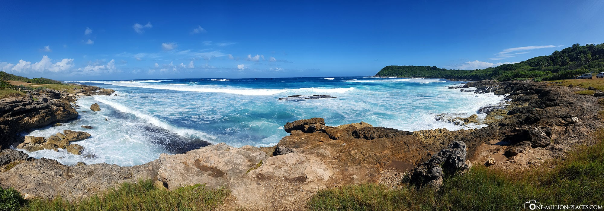 Panoramic view of the Atlantic coast, Guadeloupe, sights, island tour, On your own, travel report