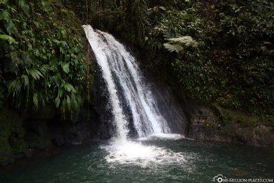 Der Wasserfall Cascade aux Ecrevisses