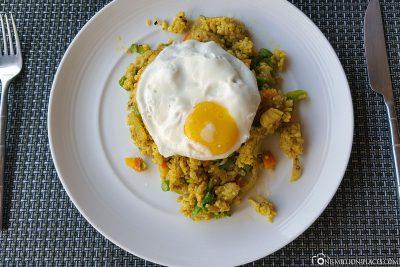 Grebratener Reis