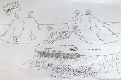 The diving spot Waenelu