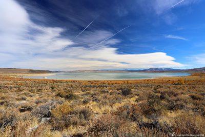 Blick vom Mono Lake Vista Point an der US-395