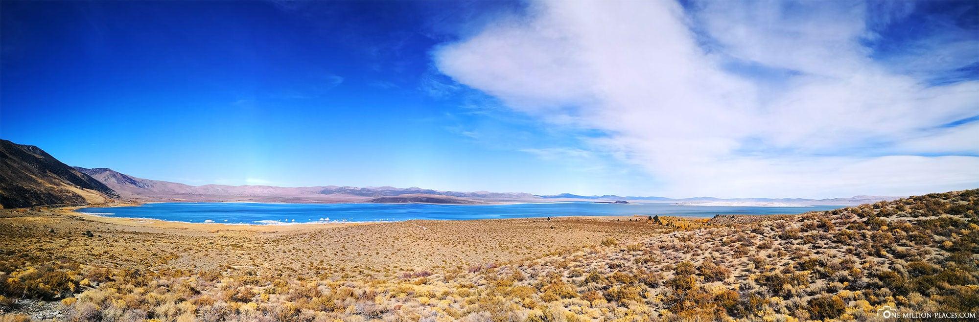 Mono Lake, Panoramabild, Kalifornien, USA