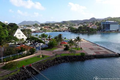 Das Cruise Ship Terminal in Castries