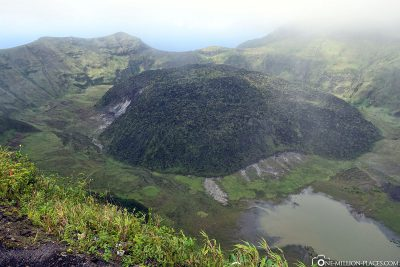 The volcano La Soufriere