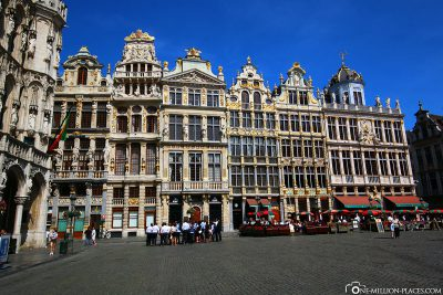 The guild houses on the Grand Place