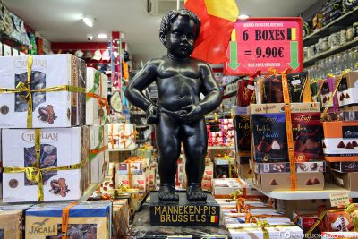 The Manneken-Pis in a souvenir shop