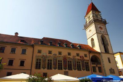 The town hall in the old town of Passau