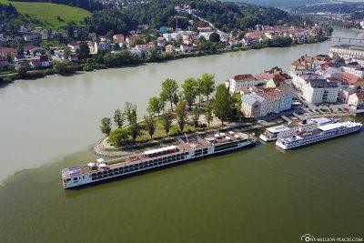 Luftaufnahme von Passau