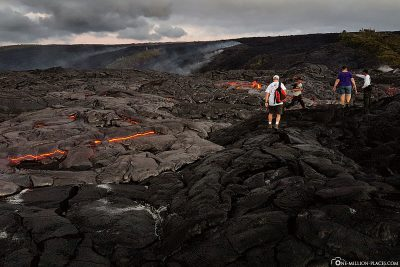 Hike on the lava fields