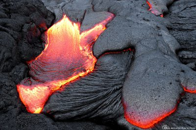 Lava flow on Big Island