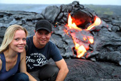 Lava Hike in Hawaii