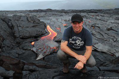 Lava Hike auf Hawaii