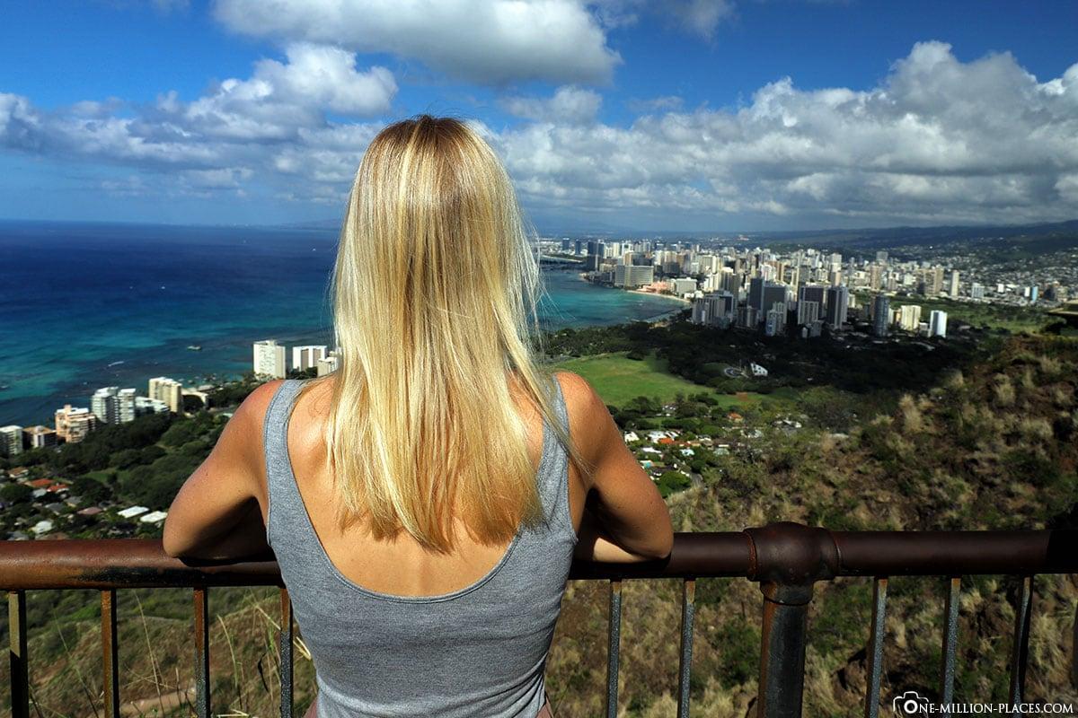 Diamond Head Krater, Aussicht, Honolulu, Wanderung, Honolulu, Oahu, Nationalpark, Hawaii, USA, Fotospot, Reisebericht