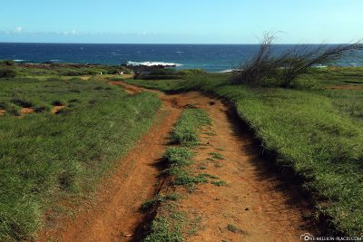 The hiking trail to the beach