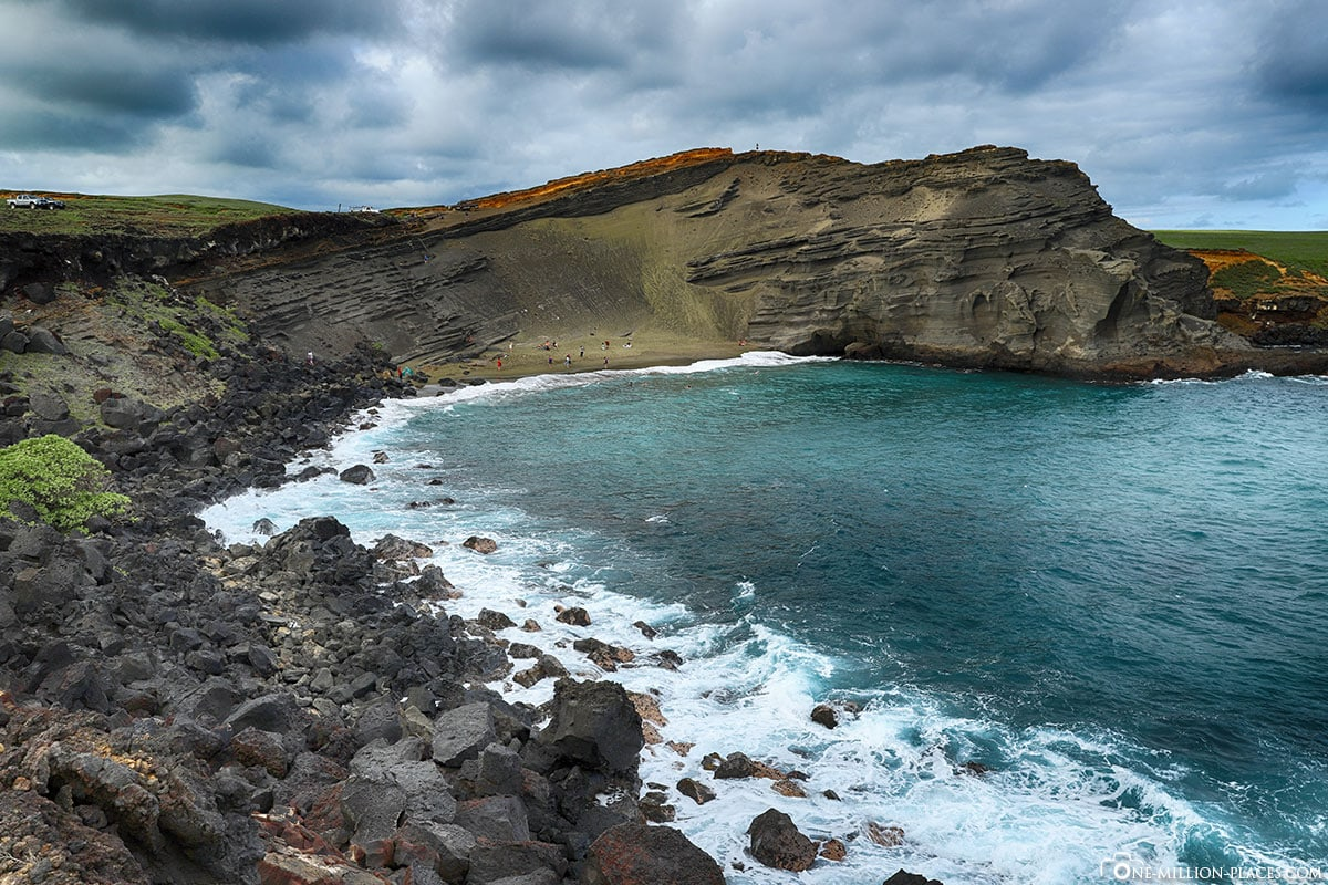 Papakolea Green Sand Beach, Big Island, Hawaii, USA, Travelreport