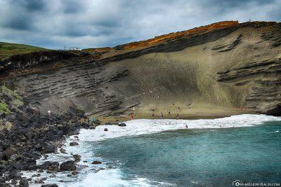 Der Papakōlea Green Sand Beach